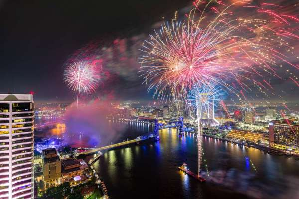 Fireworks over Jacksonville